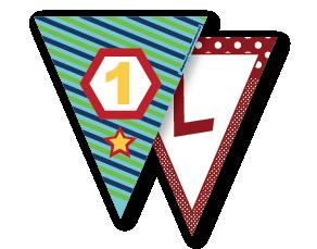 Bandeiras para Festa Triangular