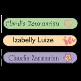 Etiquetas escolares para Lápis, Canetas e Escovas Tradicionais