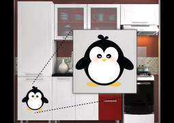Adesivo de Parede - Pinguim