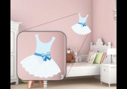 Adesivo de Parede - Bailarina Vestido Azul