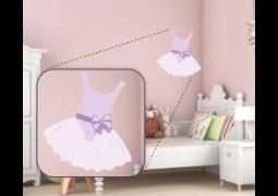 Adesivo de Parede - Bailarina Vestido Roxo