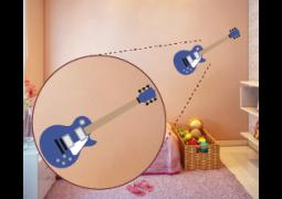 Coleção Rock & Girls - Guitarra Azul