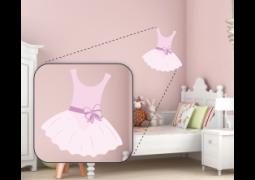 Adesivo de Parede - Bailarina Vestido Rosa