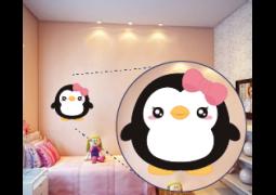 Adesivo de Parede - Pinguim Fofa