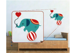 Adesivo de Parede - Elefante Malabarista