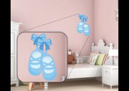 Adesivo de Parede - Bailarina Sapatilha Azul