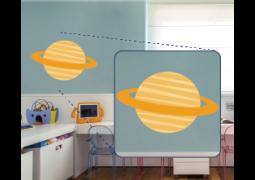 Adesivo de Parede - Saturno Laranja
