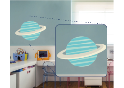 Adesivo de Parede - Saturno Azul