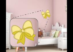Adesivo de Parede - Bailarina Laço Amarelo