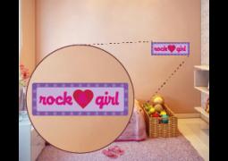 Coleção Rock & Girl -  Placa