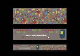 Faixa para Parede Games Cinza 02