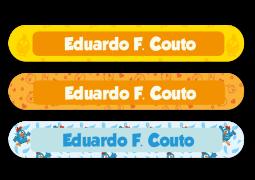 Etiquetas escolares para Lápis, Canetas e Escovas Galinha Pintadinha
