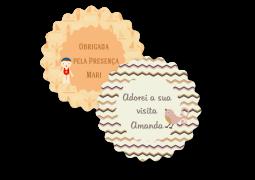 Etiqueta Flor TAM G Coleção TagLab Especiais