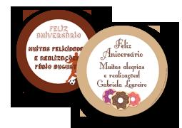 Etiquetas Redondas para Presente Tradicionais