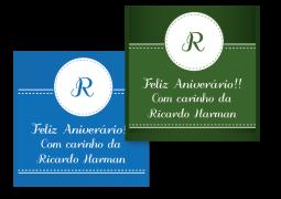 Etiquetas Quadradas para Presente Arco-Iris Liso