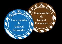 Etiquetas Redondas para Presente Arco Iris Listrado