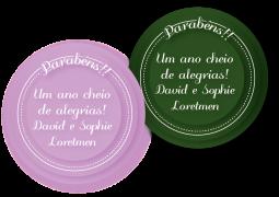 Etiquetas Redondas para Presente Arco Iris Liso