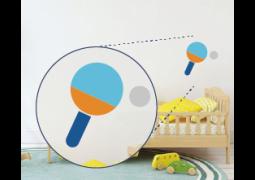 Adesivo de Parede - Raquete Ping Pong