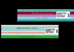 Rótulo de Água coleção Arco Íris Multicolorido