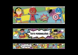 Faixa para Parede Super Heróis