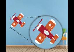 Adesivo de Parede - Aeronave