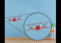 Adesivo de Parede - Avião Front