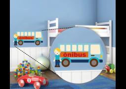 Adesivo de Parede - Motorista de Ônibus