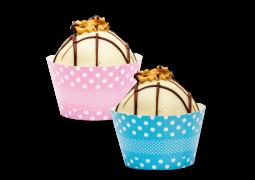 Wrapper para Cupcake Coleção Arco-Íris Bolinhas